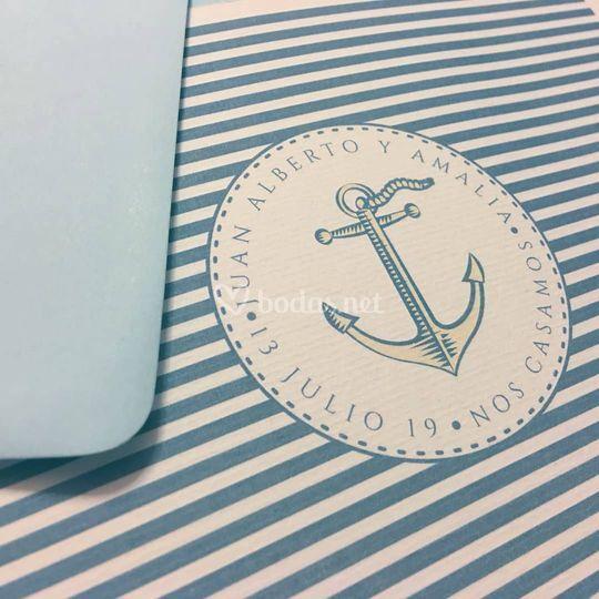 Invitaciones Nautical Decor
