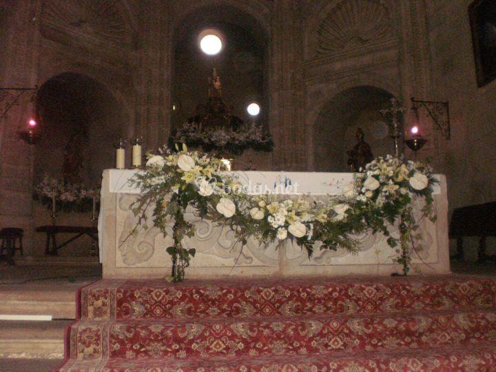 Guirnalda para el altar