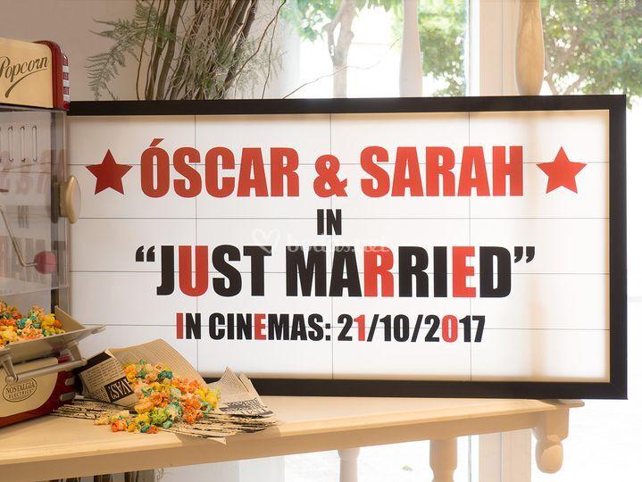 Cartel de cine personalizado