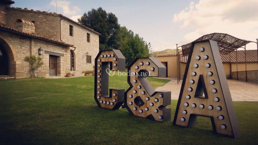 Pack letras luminosas boda