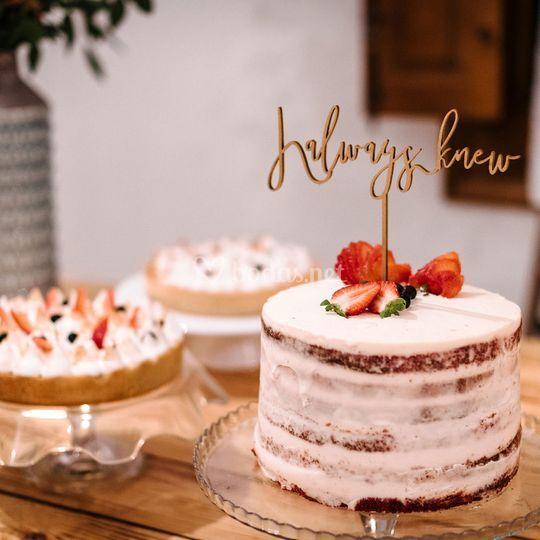 Topper de tarta personalizado