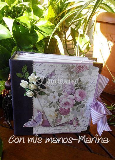 Album vintage tonos lilas