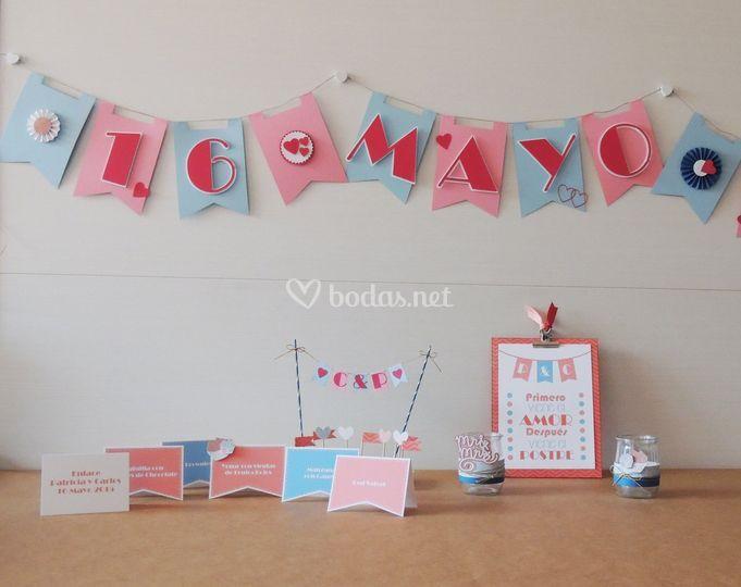 Decoración de mesas dulces