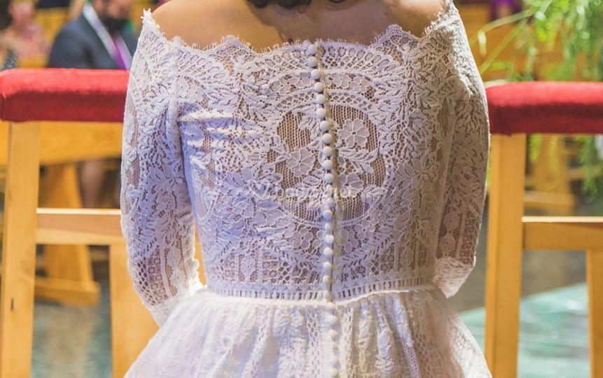 Detalle del vestido