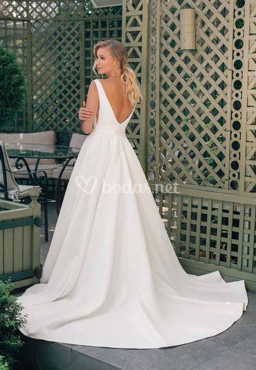Vestido novia sin encaje