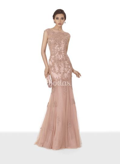 vestido rosa empolvado de giancarlo novias | foto 20