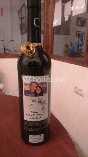 Detalle de vino regalo