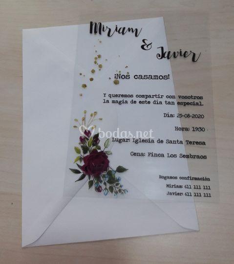 Invitación A5 polipropileno