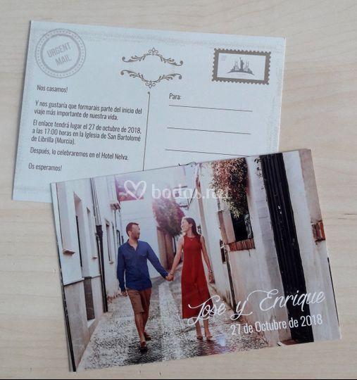 Invitación tarjeta postal