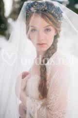 Peinado de novia y velo