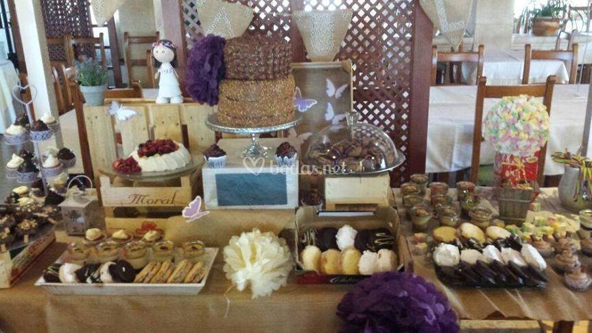 Mesa dulce pastelería