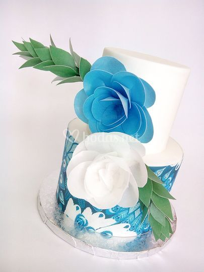Tarta boda wafer paper
