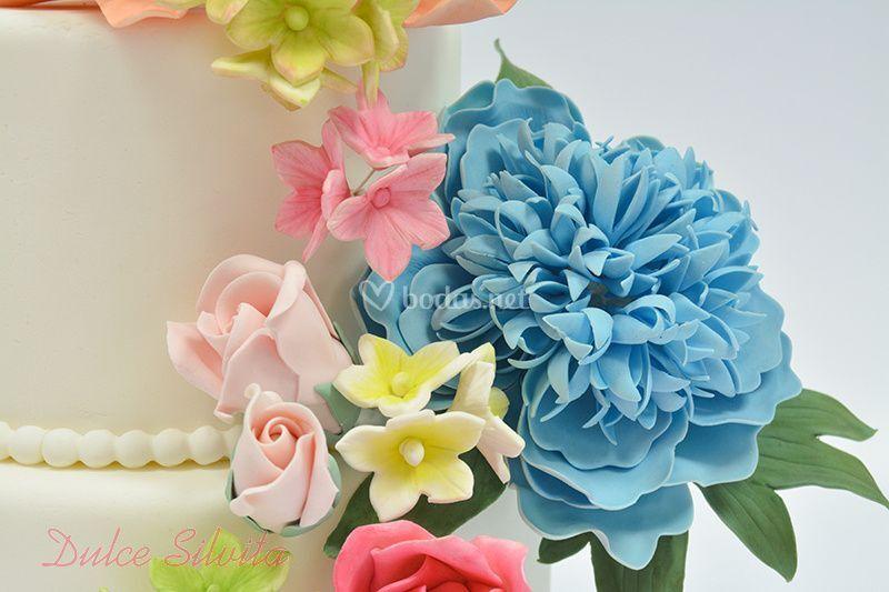 Detalle flores de azúcar