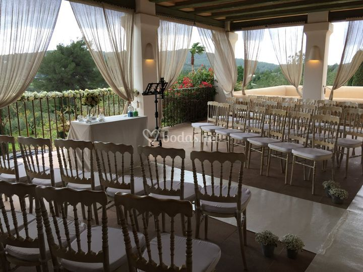 Boda civil en Villa Can Rafal
