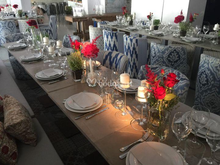 Centros de mesa La belle ibiza