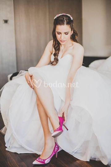 Novia con zapatos Enamorarte