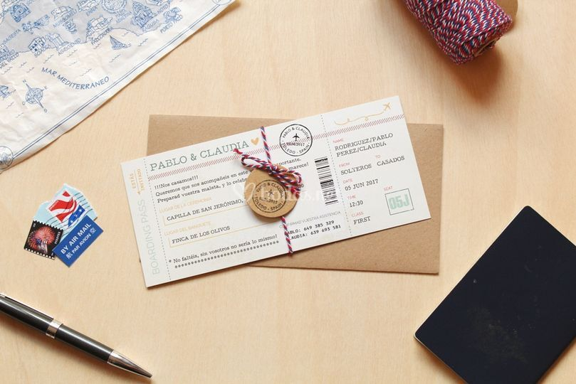 Invitaciones - boarding pass