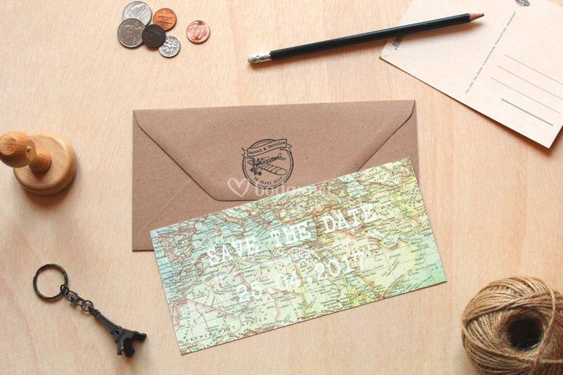 Invitaciones mapa
