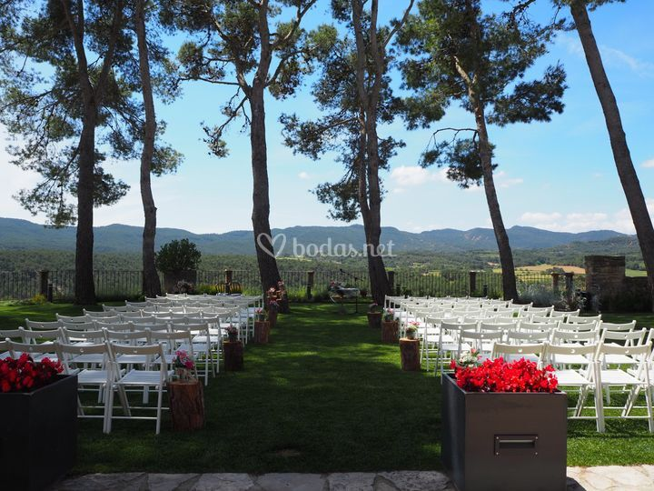 Entrada a la ceremonia civil