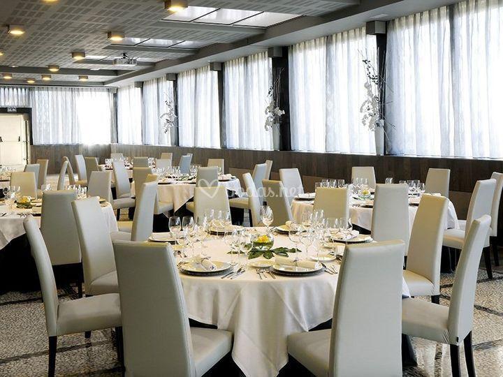 Montaje del banquete