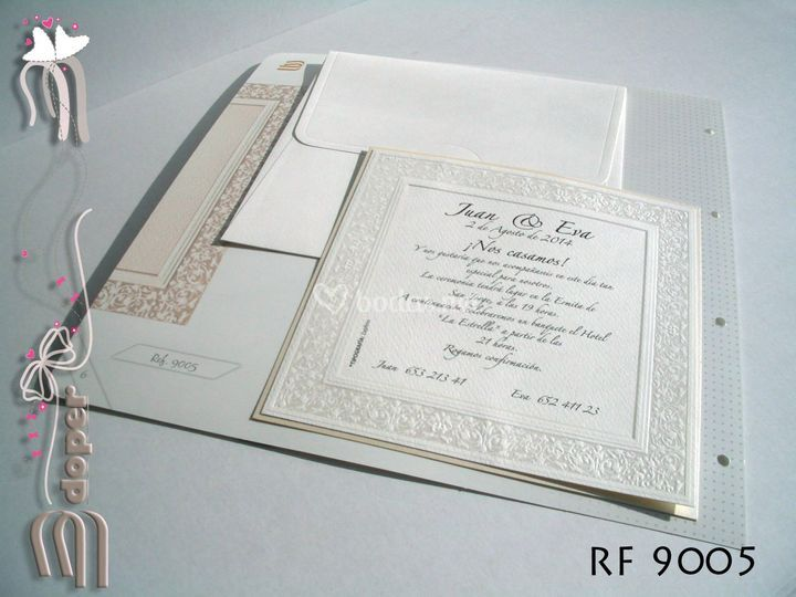 Invitaciones con bordado