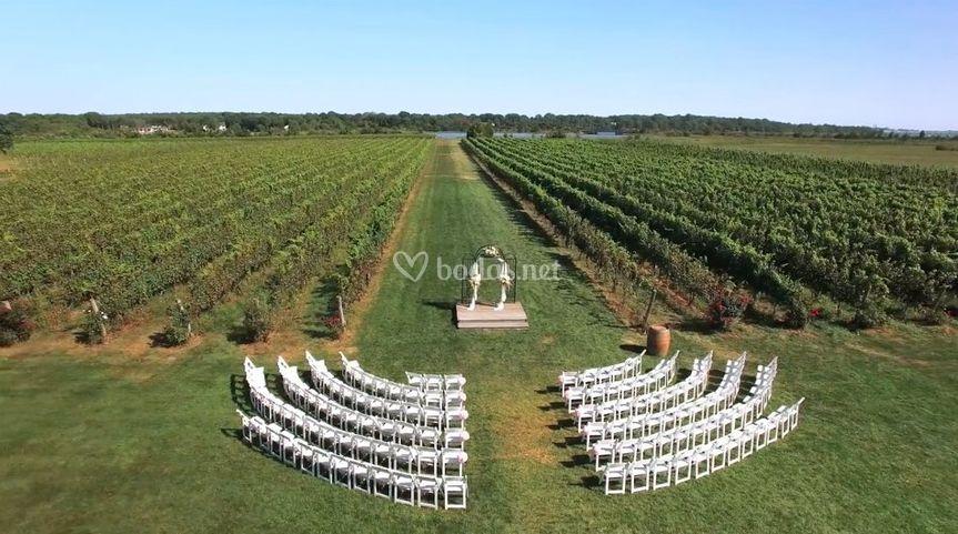 Vista aérea de la ceremonia