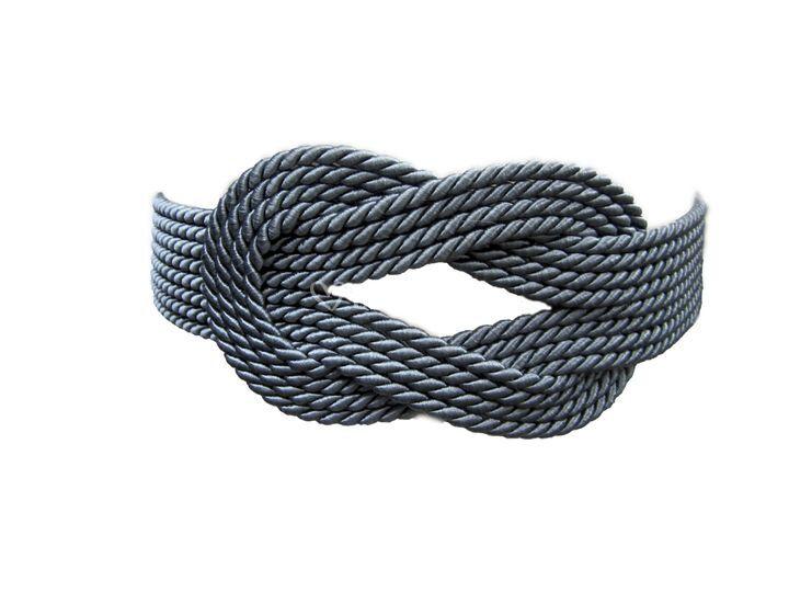 Cinturón cordon llano gris