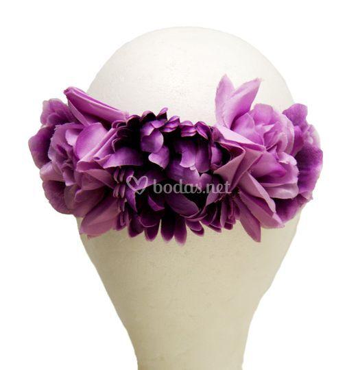 Tocado de flores Dalia