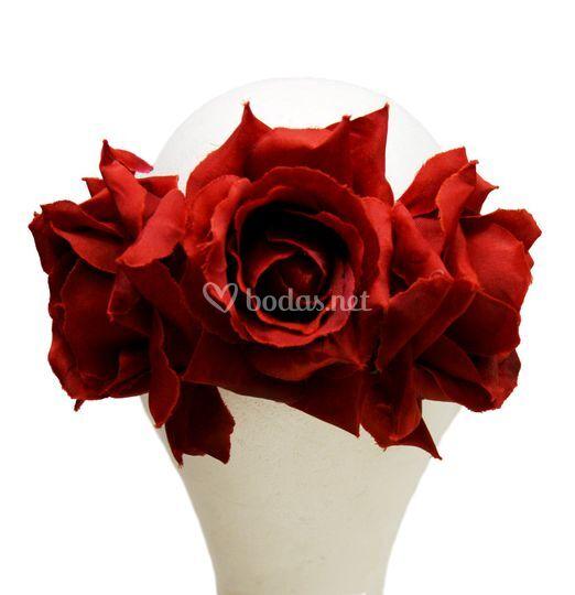 Corona de rosas rojas Romero