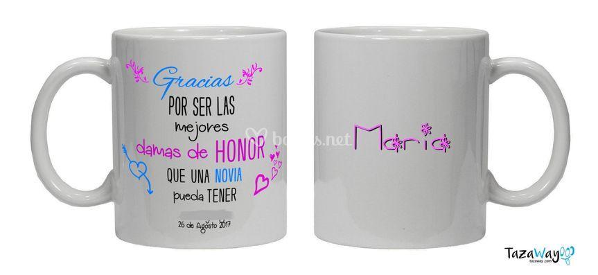Taza para boda