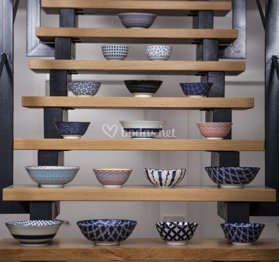 Boles de porcelana japonesa