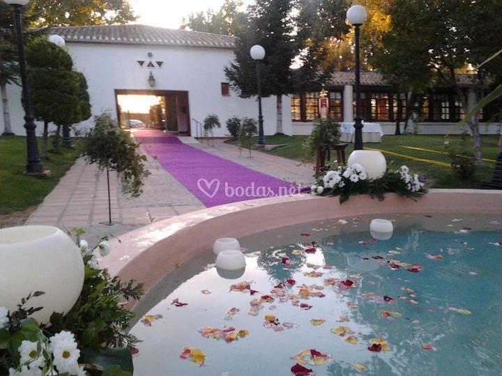 Vista de entrada a la boda de Parador de Albacete
