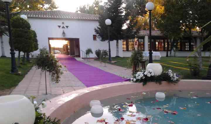 Vista de entrada a la boda