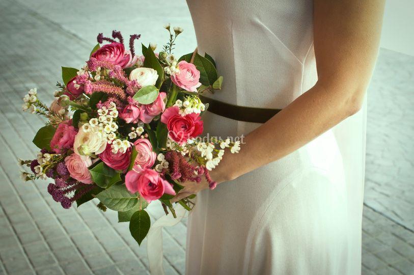 Ramo novia flores naturales