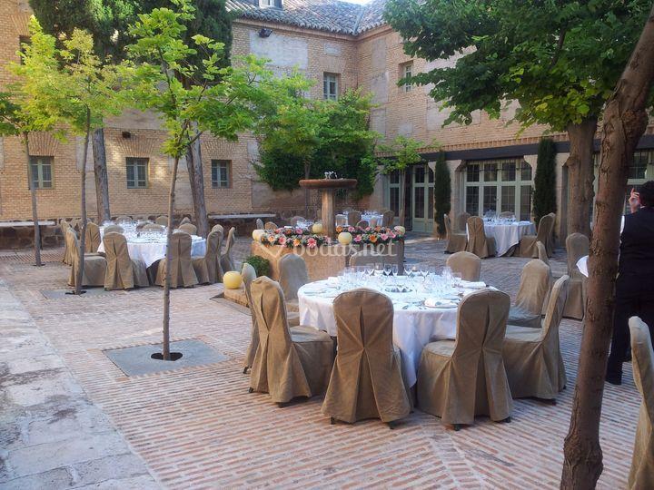 Banquete en Patio Pilastras