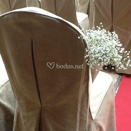 Detalle de silla para ceremonia