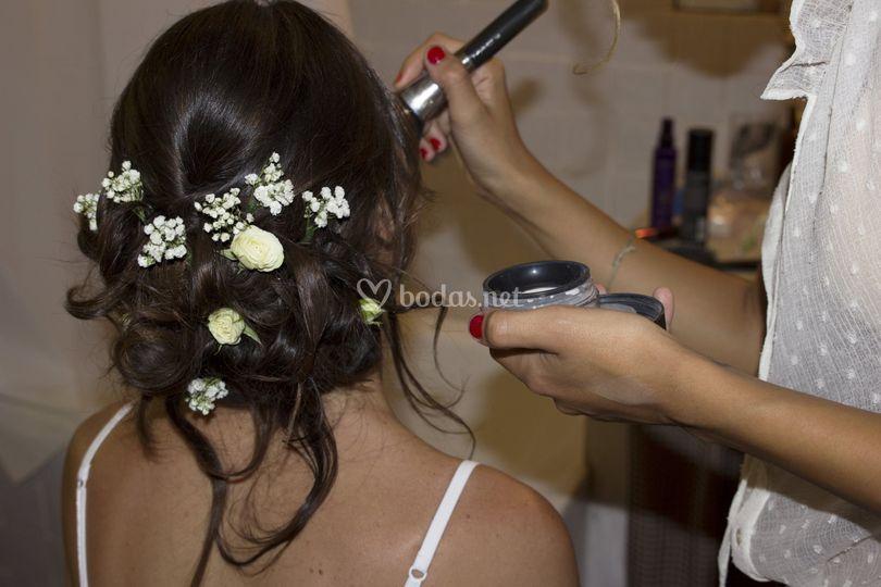 Boho hair and flowers