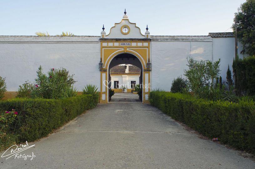 La entrada de la hacienda
