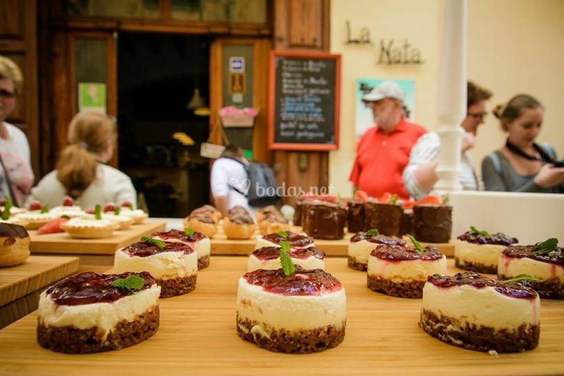 Carrito de pasteles