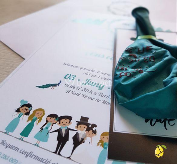 Invitación con sello
