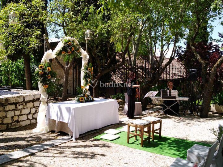 Ceremonia jardín de la noria