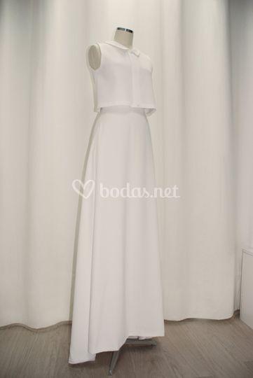 Top y falda para novia