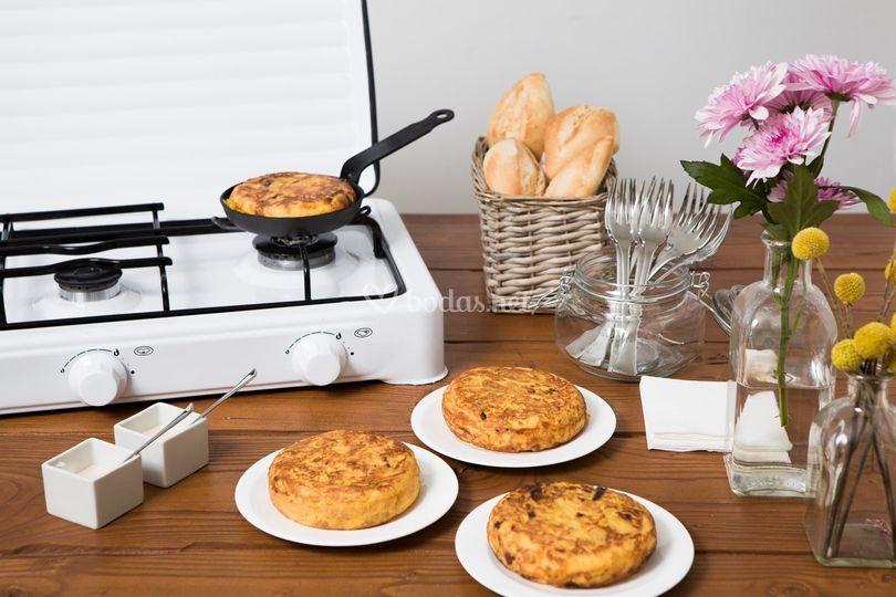 Puesto de tortillas melosas