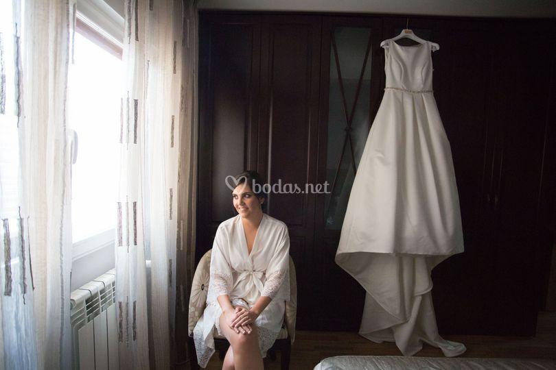 Silvia y su precioso vestido