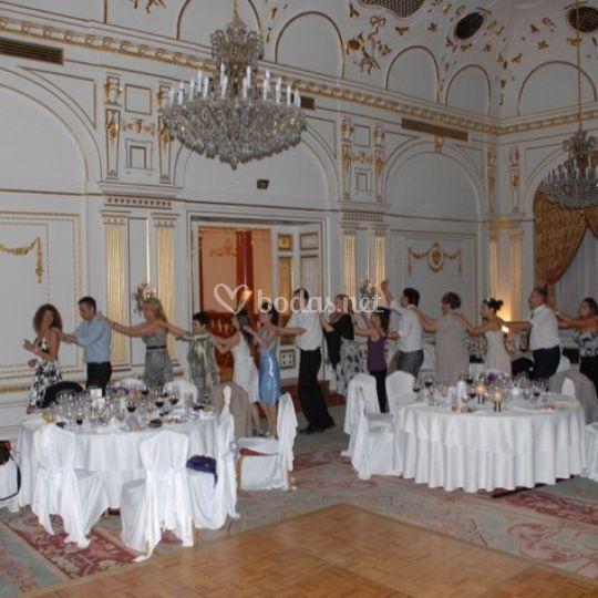 Con los invitados