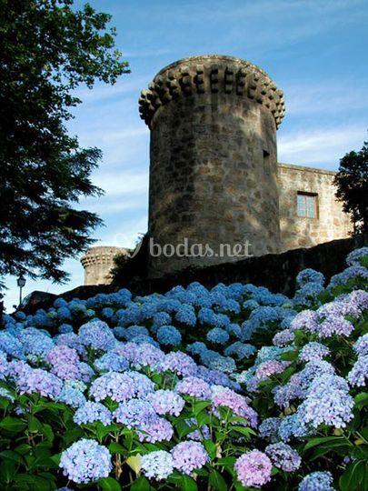 Detalle jardines y torreón