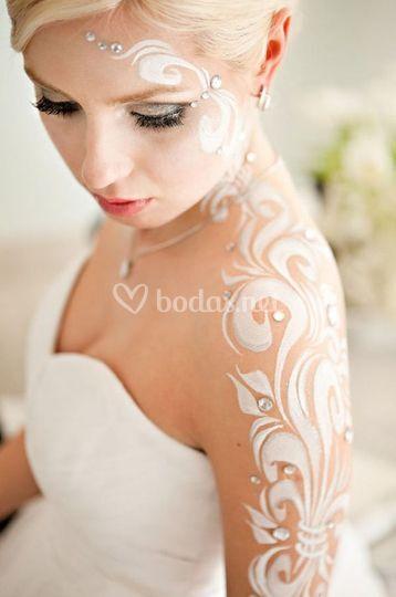 body paint novia de caracterízate   foto 18