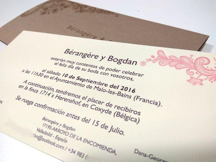 Invitación de catálogo