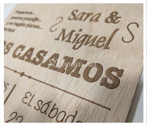 Invitaciones de madera