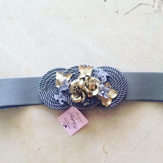 Cinturón plata y oro